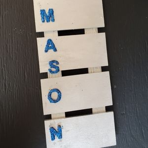Handpainted Tall Kids Name Sign